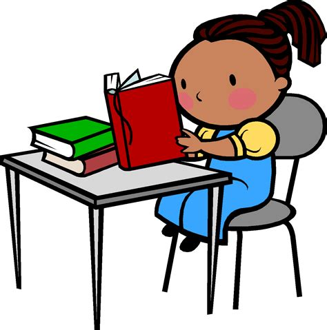 student at desk clipart student reading cliparts cliparts and others inspiration