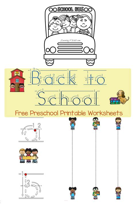 Free Printable School Worksheets by Free Back To School Preschool Worksheets Free Homeschool