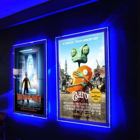 light up poster frame ultra thin acrylic frameless led illuminated poster