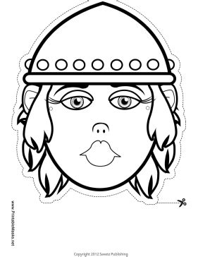 printable viking mask printable female viking mask to color mask