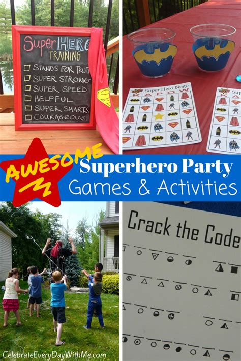 birthday themes games awesome superhero party games celebrate every day with me