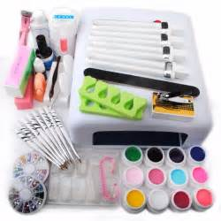 new uv gel nail art kit white 36w uv lamp nail dryer 12 uv