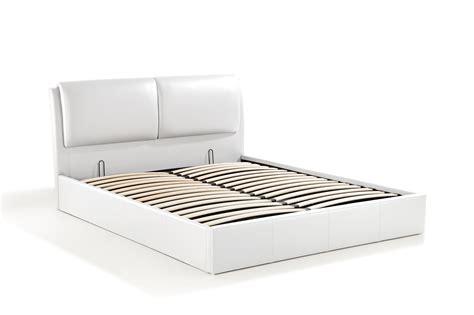 cushion lit coffre 140x190 blanc
