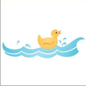 Rubber ducky border stencil from stencils and decals com