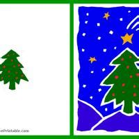 free printable green christmas tree green christmas tree card