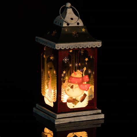 snowman lantern decorations b m