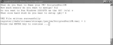 perl script template scripting creation of machines in perl scripts
