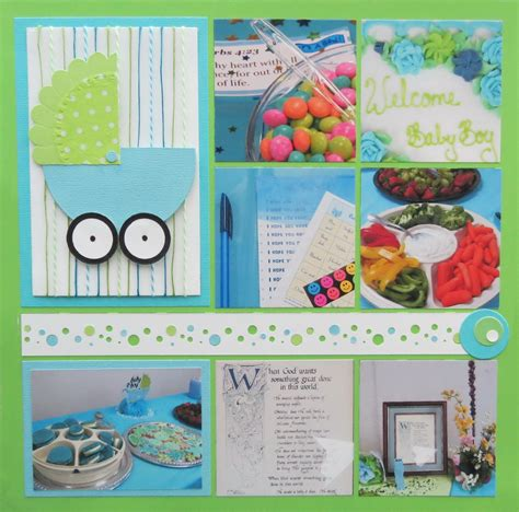 Baby Shower Scrapbook Pages by Baby Shower Scrapbook Ideas Mosaic Moments Photo Collage