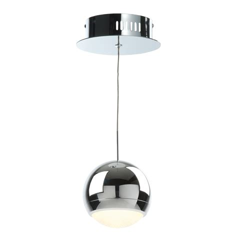 solent cage chrome effect pendant ceiling light
