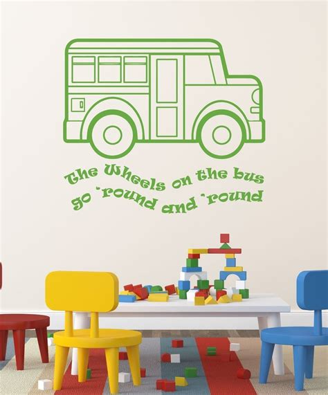 nursery rhyme wall decals the wheels on the song