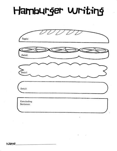 burger writing template free blank academic poster templates calendar template 2016