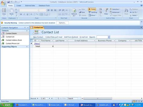 Access Database Templates Cyberuse Microsoft Access Contact Database Template