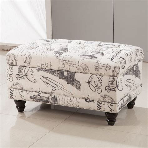 aqua tufted ottoman royal comfort collection traditional paris vintage french