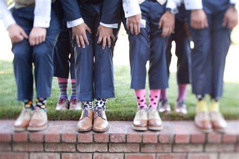 socks for the groomsmen wedding day