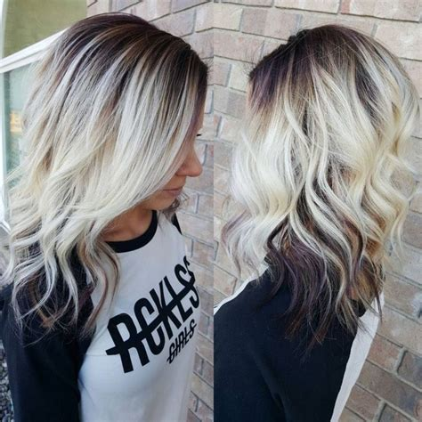 pretty highlights for gray rooted hair 605 best blonde hairstyles cool images on pinterest hair
