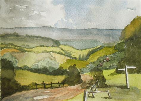 Landscape Artists Kent Original Painting Of A View Across The Weald Of Kent