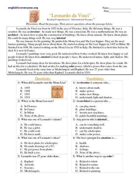 free printable reading comprehension worksheets multiple choice questions reading comprehension worksheets multiple choice 8th grade