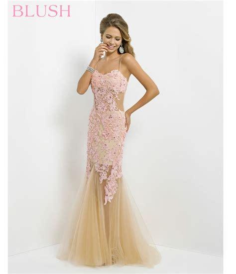 blush 2014 prom dresses bubblegum lace tulle mermaid