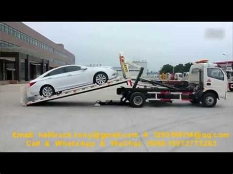 car with a truck bed 0 degree full landing flat bed car carrier tow truck