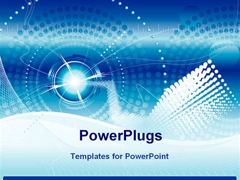 powerpoint templates technology vector file of futuristic technology blue color background