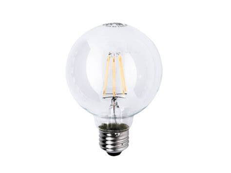 satco 09564 6 5g25 cl satco dimmable 6 5w 2700k g25 filament led bulb for