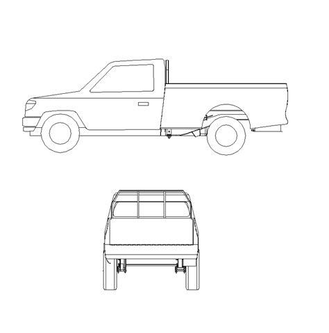 truck templates for autocad 2d cad block ford ranger pick up truck cadblocksfree