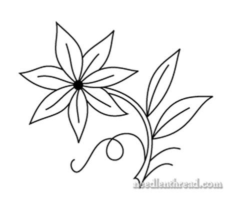 draw a pattern using flower as motif free hand embroidery pattern single flower