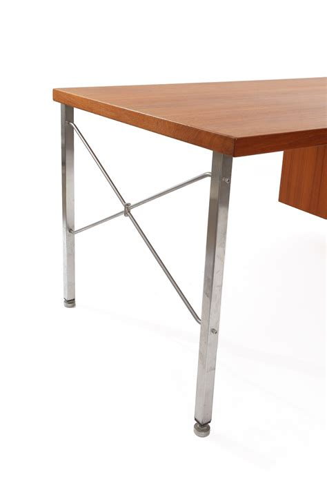 Hans Wegner Desk by Hans Wegner Teak And Steel Executive Desk For Sale At 1stdibs