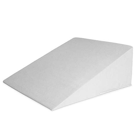 pillow wedge bed bath and beyond orthex symbia 23 degree wedge pillow protector in grey
