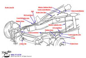 Brake Line Parts Diagram 1958 Corvette Front Brake Lines Parts Parts