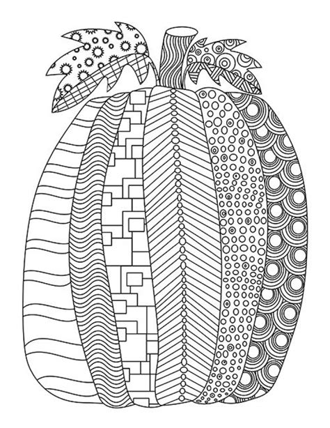 zentangle pumpkin coloring page printable fall coloring get this fall coloring pages for adults 33we67