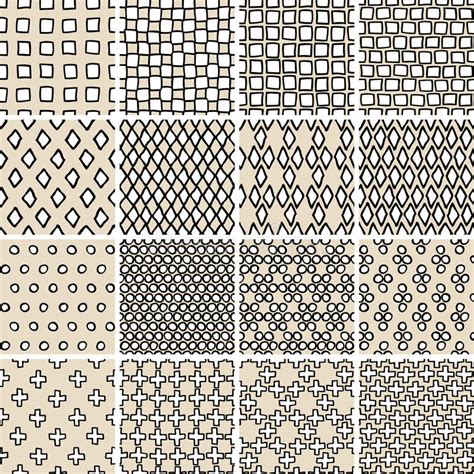 basic doodle seamless pattern set no 8 in black and white basic doodle seamless pattern set no 3 in black and white