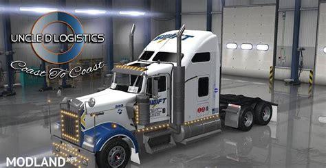 trucking companies with kenworth w900 d logistics trucking kenworth w900 skin mod