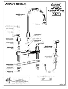 american standard kitchen faucet repair american standard indoor furnishings 4271 user s guide