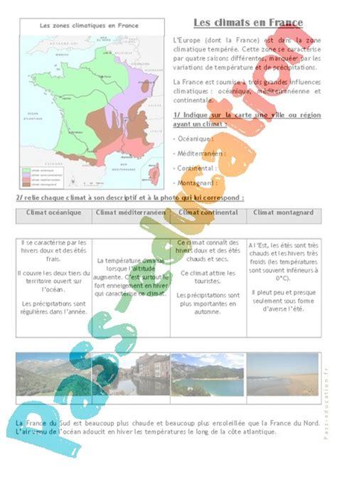exercice diagramme ombrothermique cm2 les climats en ce2 cm1 exercices pass education