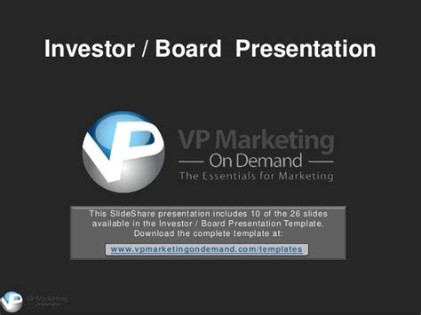 Investor Presentation Powerpoint Template Investment Presentation Powerpoint Template
