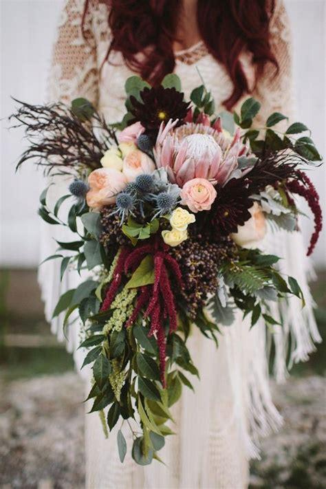 wedding wednesday lush grand bohemian bridal bouquets