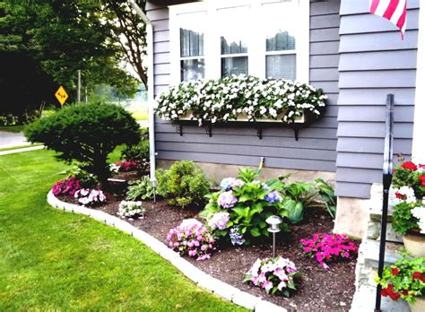 Easy Garden Bed Ideas Flower Bed Ideas For Front Of House Back Front Yard Landscaping House Ideas Pinterest