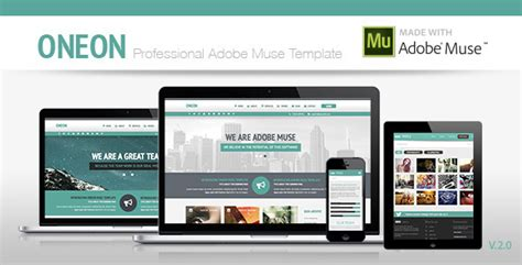 Oneon Adobe Muse Template By Zacomic Themeforest Adobe Muse Ecommerce Templates