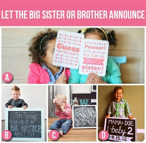 pregnancy announcements let the big or