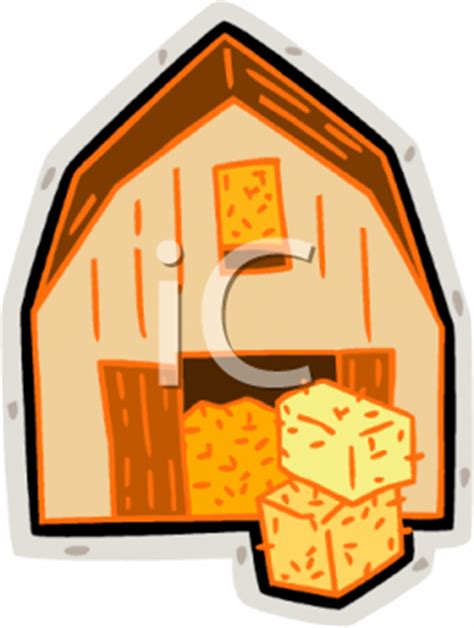 Scheune Clipart by Fall Hay Bales Clipart