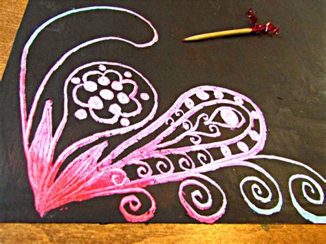 How To Make Scratchboard Paper - how to make scratch paper