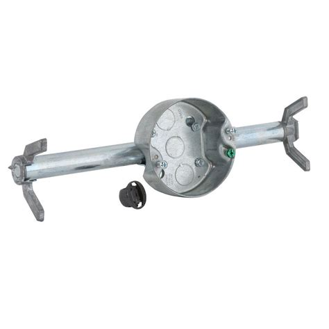 raco retro brace with 4 in round ceiling rated pan 1 1 2