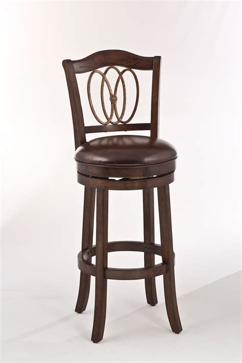 Distressed Leather Bar Stools by Hillsdale Lyndale Swivel Counter Stool Distressed