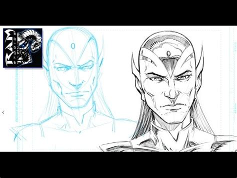 sketchbook pro hair how to sketch a character for comics drawing process in