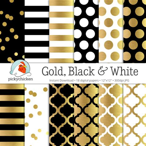 gold printable paper uk gold foil digital paper gold black white gold glam dots