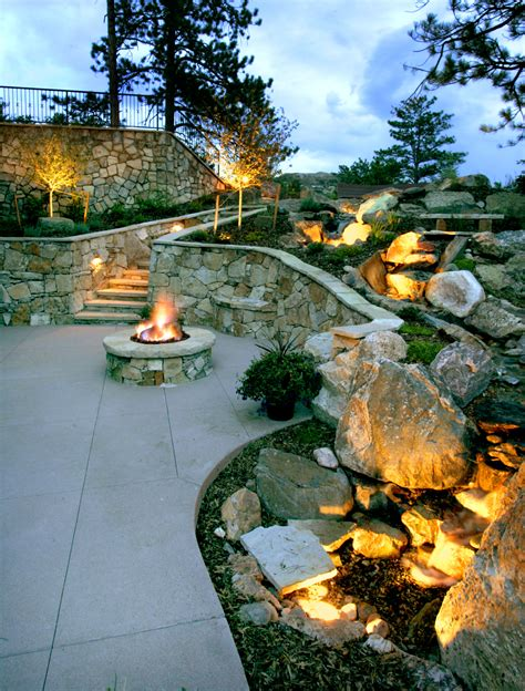 Landscape Lighting Installation Home Design Ideas And Landscape Accent Lighting