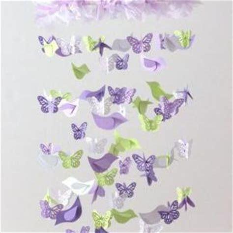Lavender Nursery Decor by Lavender Green Nursery Decor Mobile Birds Butterflies