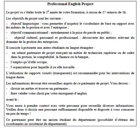 Présentation Lettre Personnelle Anglais Projet Professionnel En Anglais