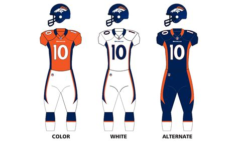 bronco colors denver broncos